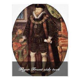 Retrato de sir Christopher Hatton Oval By Hilliar Flyer A Todo Color