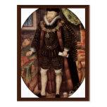 Retrato de sir Christopher Hatton Oval By Hilliar Postales