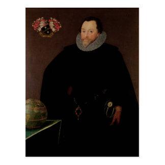 Retrato de sir Francis Drake 1591 Tarjeta Postal