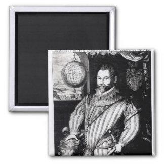 Retrato de sir Francis Drake Imán Para Frigorifico