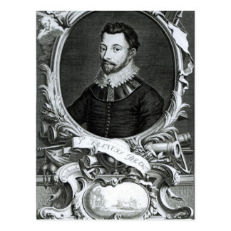 Retrato de sir Francis Drake Tarjetas Postales