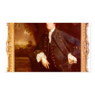 Retrato de sir Guillermo Lowther de Joshua Reynold Plantilla De Tarjeta De Negocio