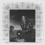Retrato de sir Jeffrey Amherst Pegatina Cuadrada