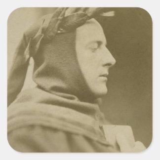 Retrato de sir John Everett Millais (1829-96) Dre Pegatinas Cuadradases