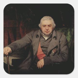 Retrato de sir José Banks, 1810 Pegatina Cuadrada