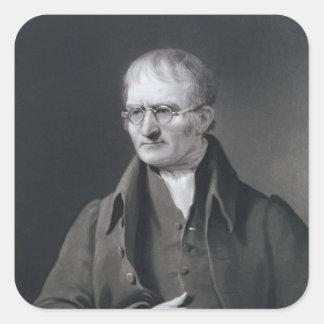 Retrato de sir José Thomson Pegatinas Cuadradas Personalizadas