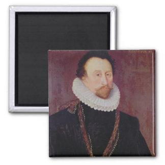 Retrato de sir Juan Hawkins 1581 Imán De Frigorifico