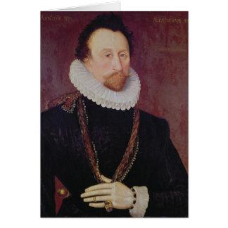 Retrato de sir Juan Hawkins 1581 Tarjeta De Felicitación