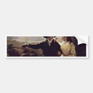 Retrato de sir Juan y de señora Clerk By sir Henry Etiqueta De Parachoque