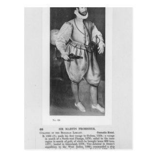 Retrato de sir Martin Frobisher Postal