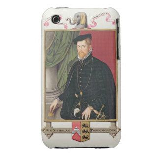 Retrato de sir Nicholas Throckmorton (1515-71) iPhone 3 Fundas
