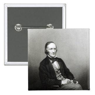 Retrato de sir Richard Owen Pin Cuadrado