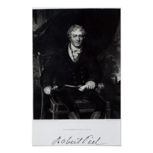 Retrato de sir Robert Peel Póster