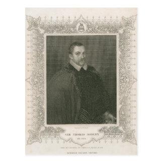 Retrato de sir Thomas Bodley Tarjetas Postales