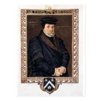 Retrato de sir Thomas Gresham (c.1519-79) de 'M Tarjeta Postal