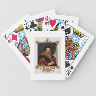 Retrato de sir Thomas More (1478-1535) de la 'nota Baraja Cartas De Poker