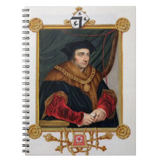 Retrato de sir Thomas More (1478-1535) de la 'nota Libreta Espiral