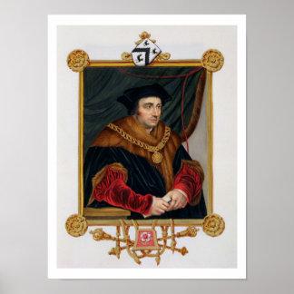 Retrato de sir Thomas More (1478-1535) de la 'nota Impresiones