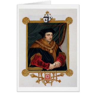 Retrato de sir Thomas More (1478-1535) de la 'nota Tarjeton