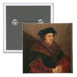Retrato de sir Thomas More Pin Cuadrado