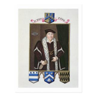 Retrato de sir Thomas papa (c.1507-99) de la 'nota Tarjetas Postales