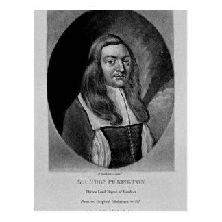 Retrato de sir Thomas Pilkington Tarjetas Postales