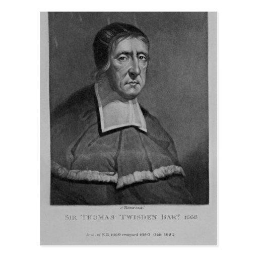 Retrato de sir Thomas Twisden Tarjetas Postales
