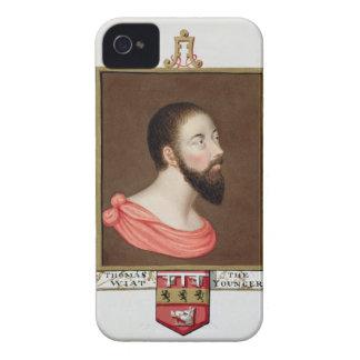 Retrato de sir Thomas Wyatt el más joven (c.1521-5 Funda Para iPhone 4