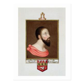 Retrato de sir Thomas Wyatt el más joven (c.1521-5 Tarjetas Postales