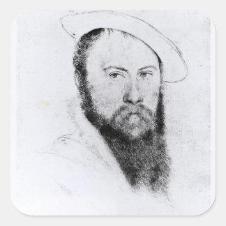 Retrato de sir Thomas Wyatt el más joven Pegatina Cuadrada