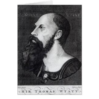 Retrato de sir Thomas Wyatt Tarjeta