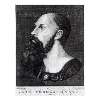 Retrato de sir Thomas Wyatt Postal