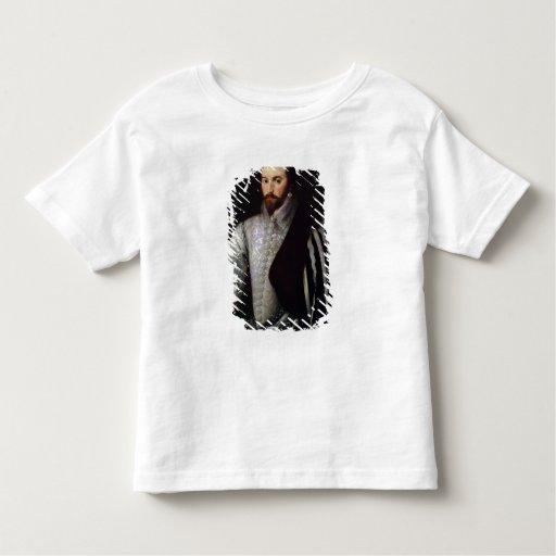 Retrato de sir Walter Raleigh 1588 T Shirts
