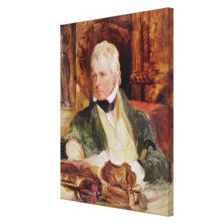 Retrato de sir Walter Scott Impresión En Tela