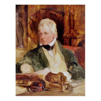 Retrato de sir Walter Scott Tarjeta Postal