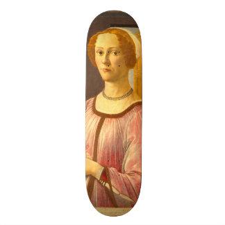 Retrato de Smeralda Bandinelli por Botticelli Skate Board
