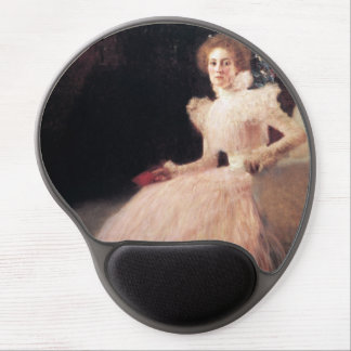 Retrato de Sonja Knips; Pintura de Gustavo Klimt Alfombrillas De Raton Con Gel