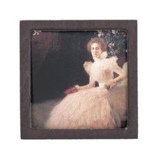 Retrato de Sonja Knips; Pintura de Gustavo Klimt Cajas De Joyas De Calidad