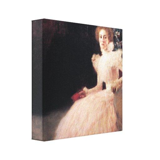 Retrato de Sonja Knips; Pintura de Gustavo Klimt Impresiones En Lienzo Estiradas