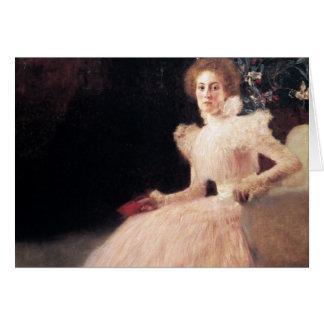 Retrato de Sonja Knips; Pintura de Gustavo Klimt Tarjeta De Felicitación