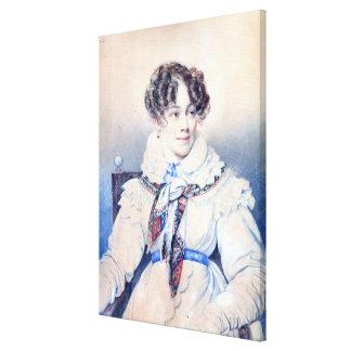 Retrato de Sophie Rostopchine Impresión En Lienzo