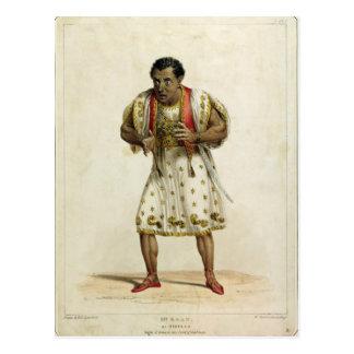 Retrato de Sr. Edmund Kean como Othello Postales