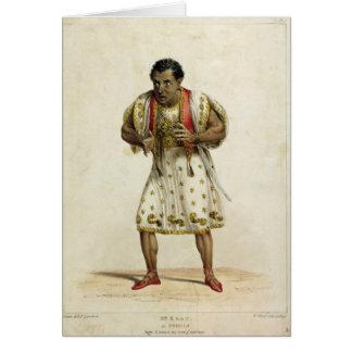 Retrato de Sr. Edmund Kean como Othello Tarjeta De Felicitación