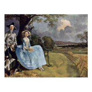 Retrato de Sr. Y señora Andrews de Thomas Gainsbo Postal