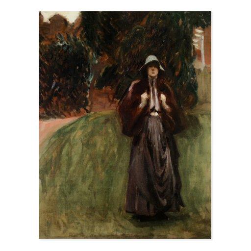 Retrato de Srta. Clementine de Juan Sargent Tarjeta Postal