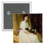 Retrato de Srta. Dorothy Dicksee Pin Cuadrada 5 Cm