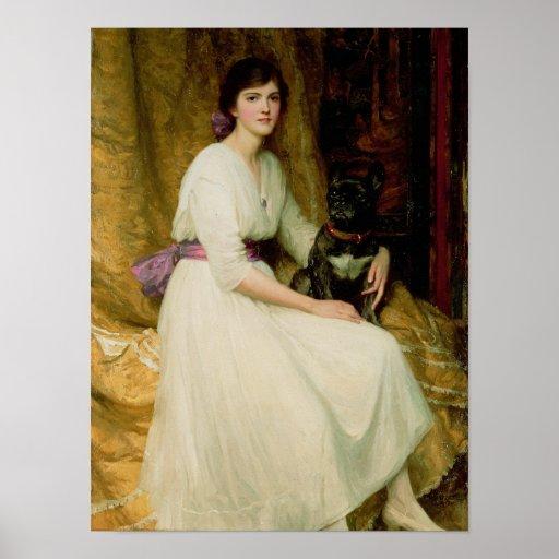 Retrato de Srta. Dorothy Dicksee Póster