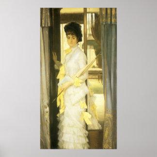 Retrato de Srta. Lloyd por Tissot, arte del Póster