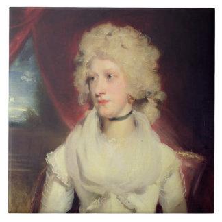 Retrato de Srta. Martha Carr (aceite en lona) Azulejo Cuadrado Grande