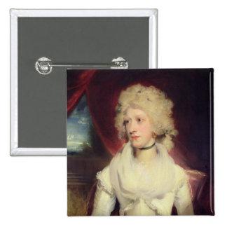 Retrato de Srta. Martha Carr (aceite en lona) Pin Cuadrado